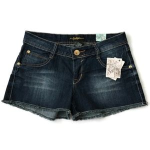 South Pole Jean Shorts Fuego Distressed Denim New